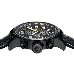 Invicta Men's 3332 Lefty Chronograph Leather Black Watch - Thumbnail 2