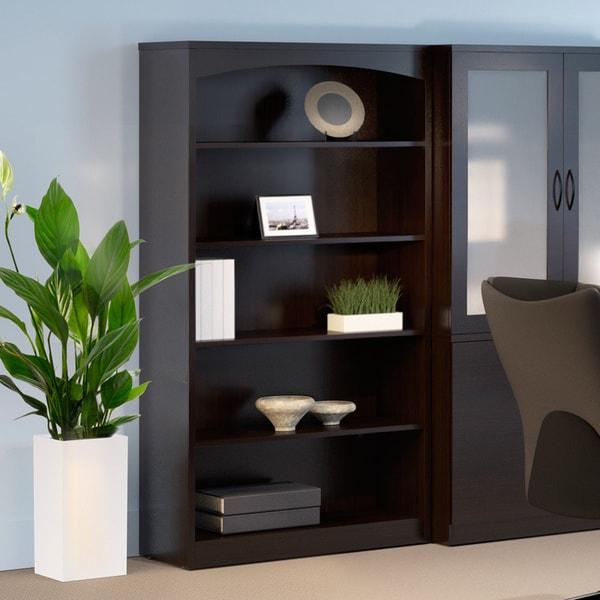 Mayline Brighton Series 5-shelf Mocha Bookcase