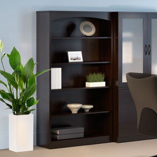 Mayline Brighton Series 5-shelf Mocha Bookcase