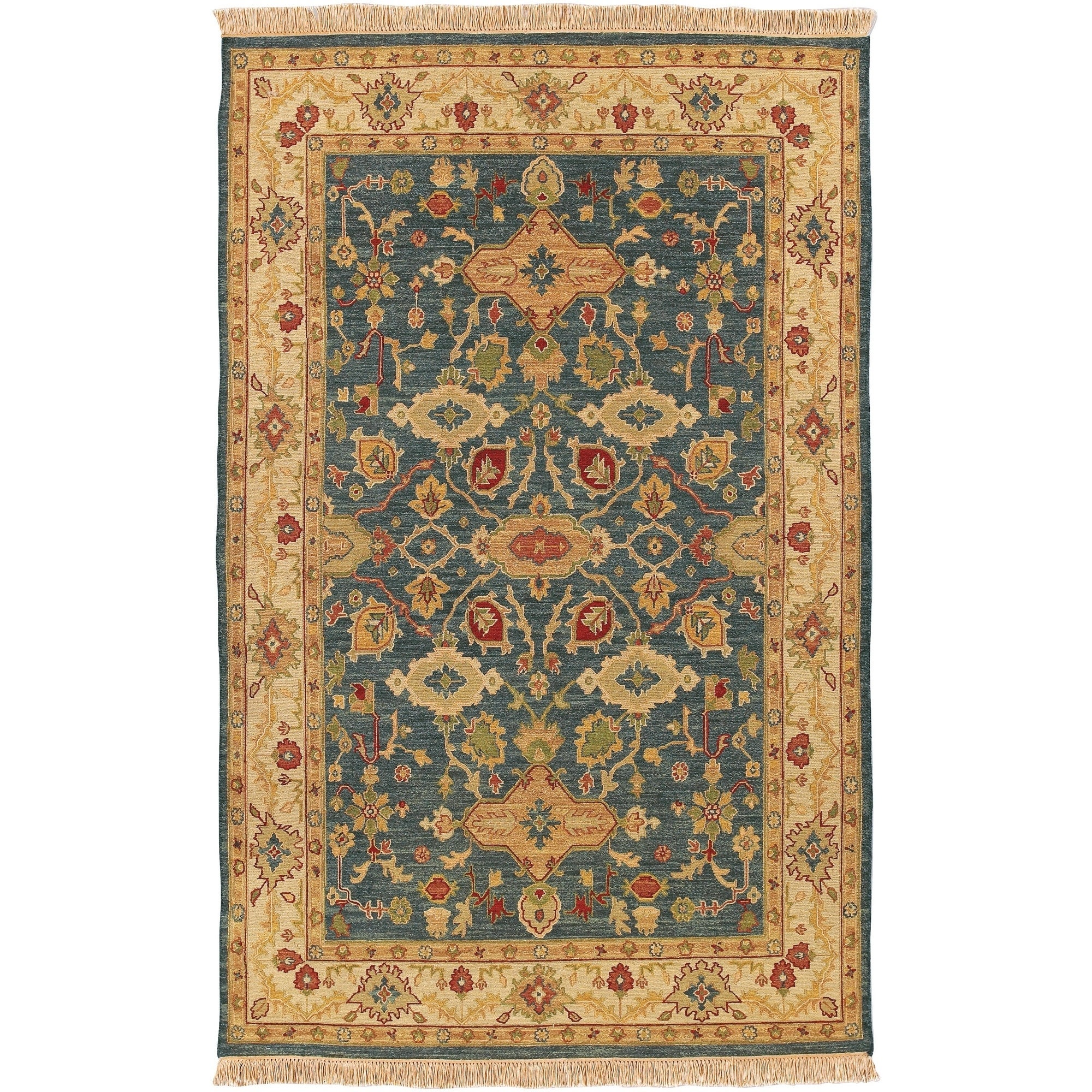 Hand Knotted Sangli New Zealand Wool Area Rug 6 X 9 On Sale Overstock 4450710