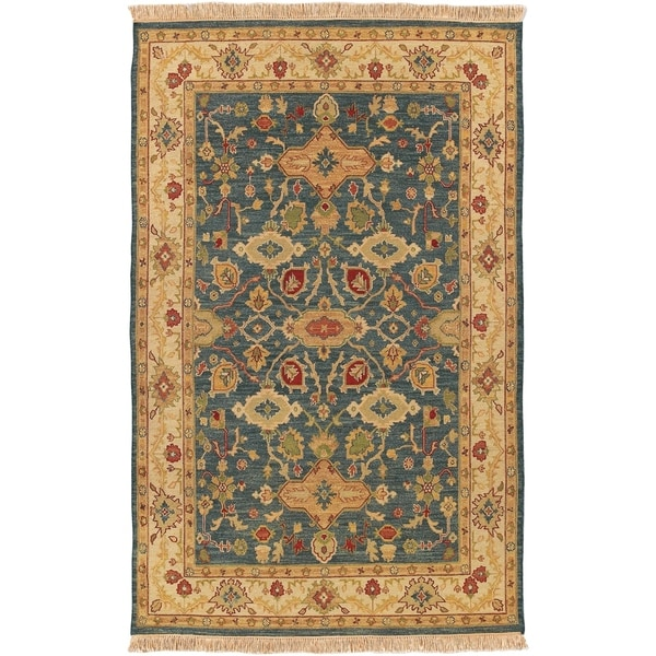 Shop Hand Knotted Sangli New Zealand Wool Area Rug 6 X 9 On