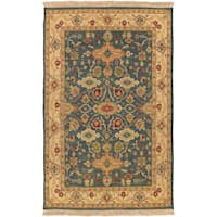Hand-knotted Sangli New Zealand Wool Area Rug - 6' x 9'