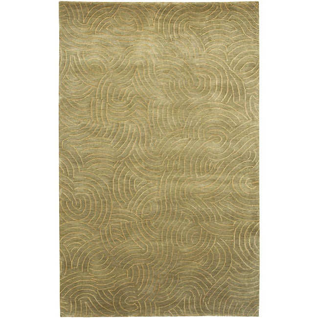 Julie Cohn Hand-knotted Abstract Design Wool Rug (4' x 6')