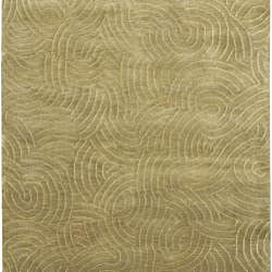 Julie Cohn Hand-knotted Abstract Design Wool Rug (4' x 6') - Thumbnail 1