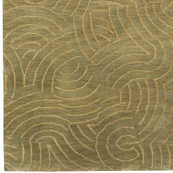Julie Cohn Hand-knotted Abstract Design Wool Rug (4' x 6') - Thumbnail 2