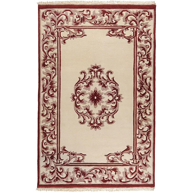 Hand-knotted Chateau New Zealand Wool Rug (9' x 13') - Thumbnail 0