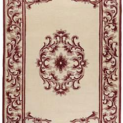 Hand-knotted Chateau New Zealand Wool Rug (9' x 13') - Thumbnail 1
