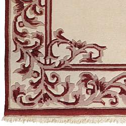 Hand-knotted Chateau New Zealand Wool Rug (9' x 13') - Thumbnail 2