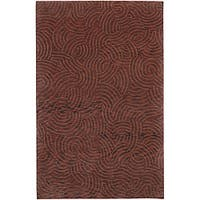 Hand-knotted Abstract Design Wool Area Rug - 5' x 8'