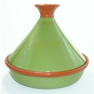 Pistachio Green 12-inch Cookable Tagine (Tunisia)