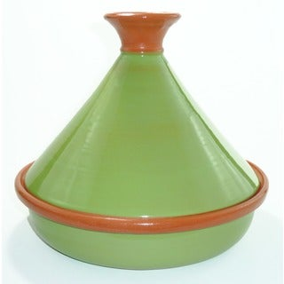 Pistachio Green 12-inch Cookable Tagine (Tunisia)
