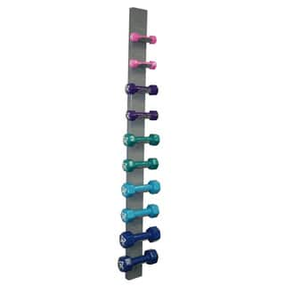 Cando Vinyl-coated 10-piece Dumbbell Set with Rack|https://ak1.ostkcdn.com/images/products/4454938/P12407696.jpg?impolicy=medium