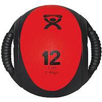 Cando 12-pound Dual-handle Red Medicine Ball