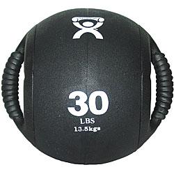 Cando 30-pound Dual-handle Black Medicine Ball