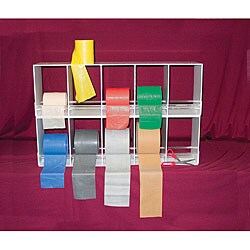 Cando Horizontal 10-bin Universal Exercise Band Duplex Rack