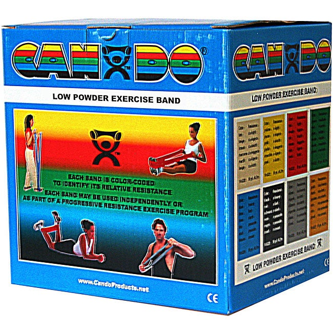 Cando 50-yard Blue Low Powder Exercise Bands