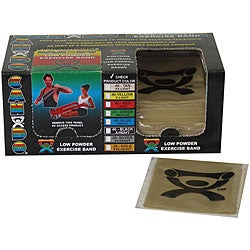Cando Tan Latex 4-foot Exercise Bands (Pack of 40)