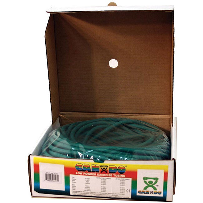 Cando Low-powder 100-foot Green Medium Exercise Tubing