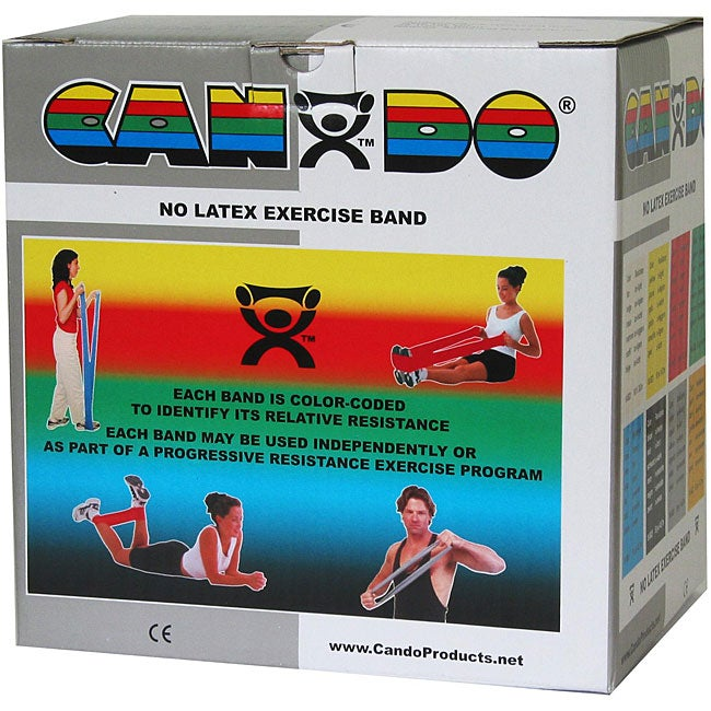 Cando 50-yard Silver XX-heavy Exercise Band