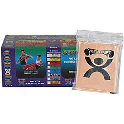 Cando Tan No-latex 4-foot Strip Exercise Bands (Pack of 40) - Thumbnail 0