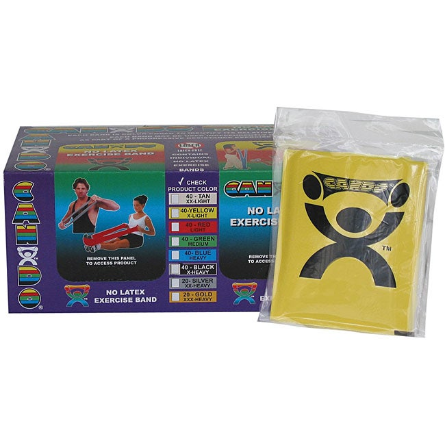 Cando Yellow No-latex 4-foot Strip Exercise Bands (Pack of 40)