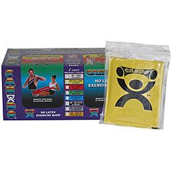 Cando Yellow No-latex 4-foot Strip Exercise Bands (Pack of 40) - Thumbnail 0
