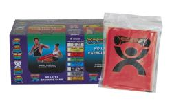 Cando Red No-latex 4-foot Strip Exercise Bands (Pack of 40) - Thumbnail 2