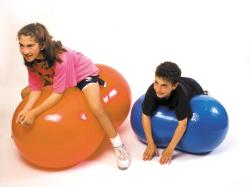 Cando Inflatable 20-inch Orange Exercise Saddle Roll - Thumbnail 1