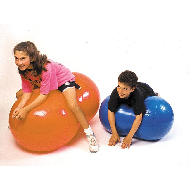 Cando Inflatable 20-inch Orange Exercise Saddle Roll
