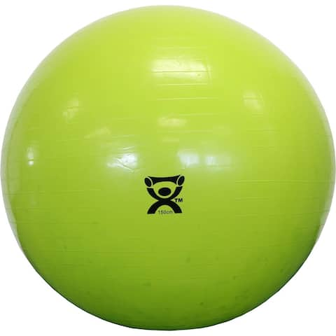 Cando Inflatable 59-inch Lime Green Exercise Sensi-ball