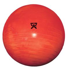 Cando 30-inch Red Inflatable Exercise Ball - Thumbnail 2