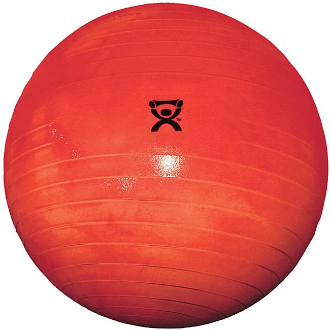 Cando 30-inch Red Inflatable Exercise Ball - Thumbnail 0