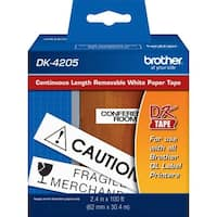 Brother DK4205 - Black on White Removable Continuous Length Paper Tap