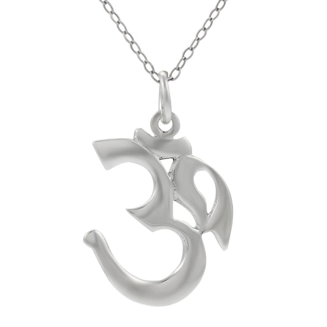 Journee Collection  Sterling Silver Ohm Necklace