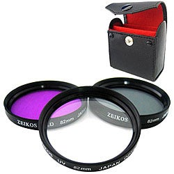 Zeikos 82mm Multi Coated Glass Filter Kit