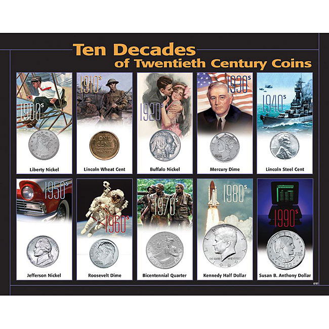 American Coin Treasures 20th Century 10-decade Coin Collection