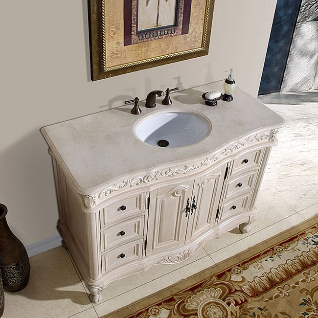 Silkroad Exclusive Upland Bathroom Single Sink Vanity