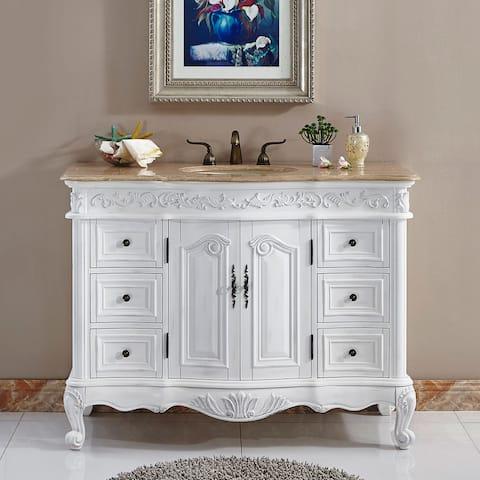 """Silkroad Exclusive Upland 48"""" Bathroom Single Sink Vanity"""