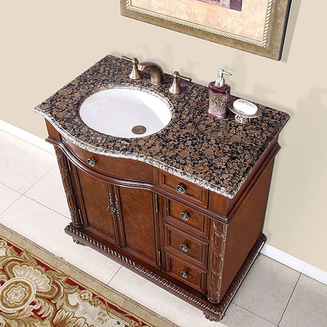 Silkroad Exclusive Sanger Bathroom Single Sink Vanity