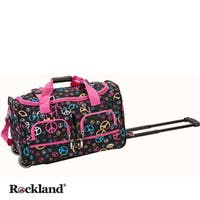 Rockland Deluxe Peace 22-inch Carry On Rolling Duffel Bag