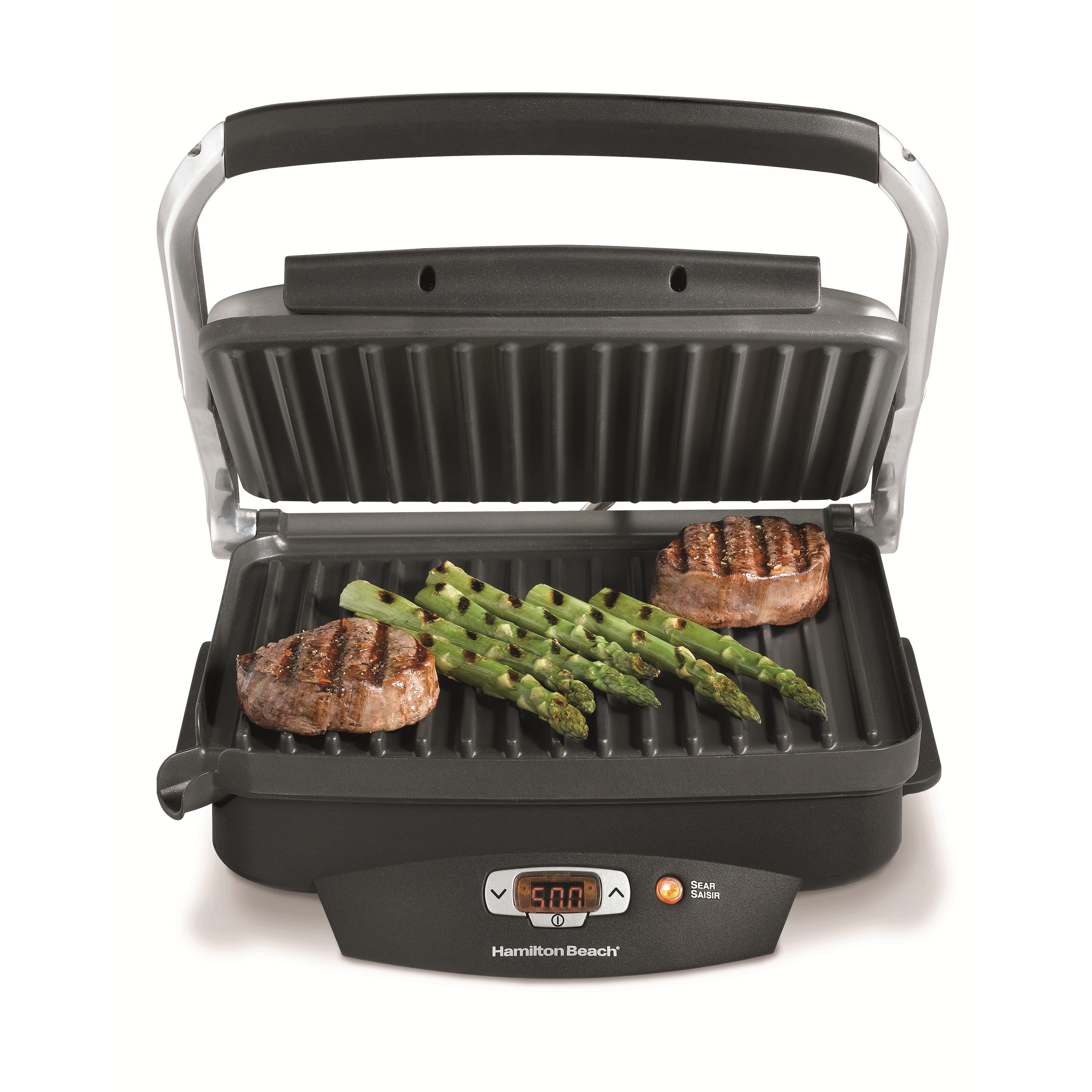 Hamilton Beach Steak Lover's 100 Sq in Indoor Searing Gri...