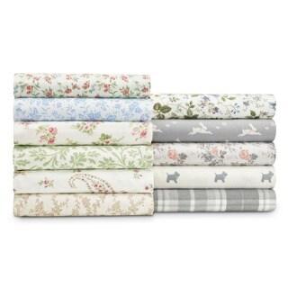 Laura Ashley 4-piece Deep Pocket Flannel Sheet Set