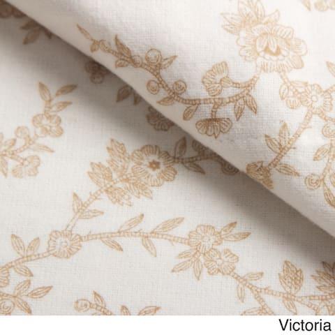 Laura Ashley Cotton Flannel Deep Pocket Bed Sheet Sets