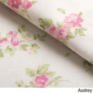 Laura Ashley Cotton Flannel Deep Pocket Sheet Sets (Audrey - Twin)