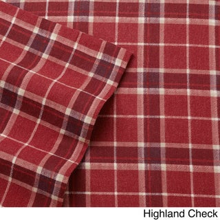 Laura Ashley Cotton Flannel Deep Pocket Sheet Sets (Highland Check - Queen)