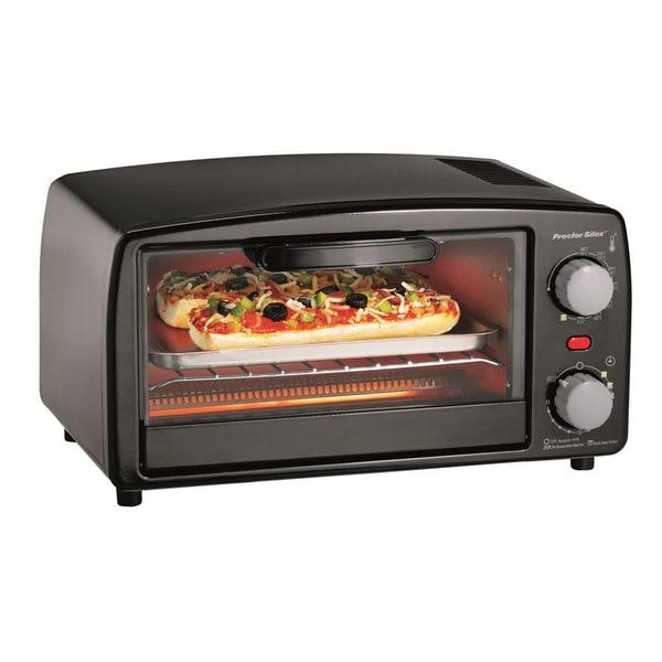 Shop Proctor Silex Black 4 Slice Toaster Oven W Broiler