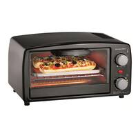 Proctor Silex Black 4-Slice Toaster Oven with Broiler