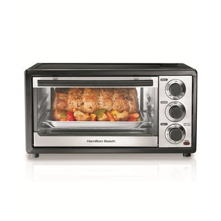 Hamilton Beach Black/Stainless Steel 6-slice Capacity Toaster Oven with Broiler