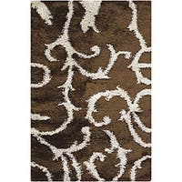 Artist's Loom Hand-woven Shag Rug (7'9 x 10'6) - 7'6 x 10'6