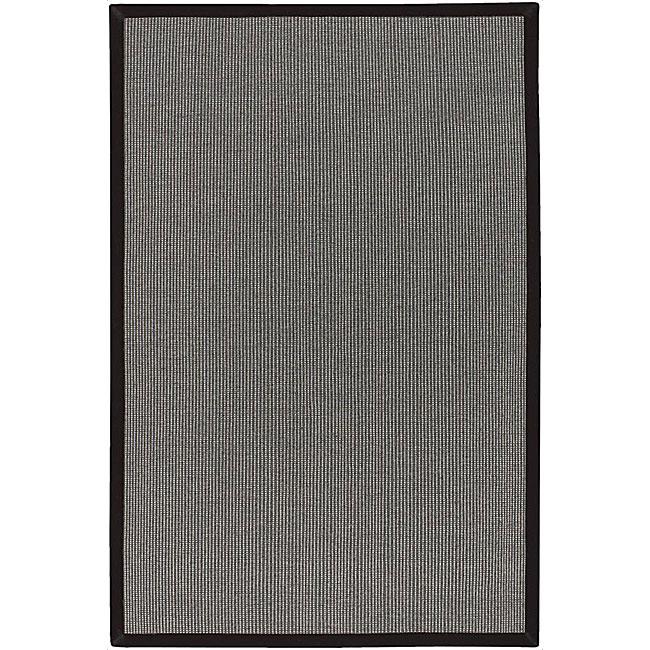 Artist's Loom Hand-woven Casual Border Rug (5' x 7'6)